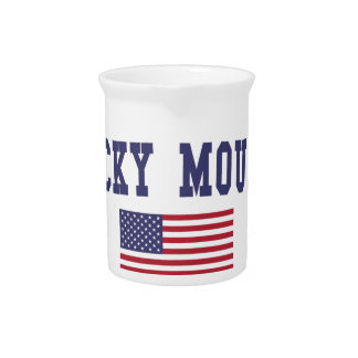 Rocky Mount US Flag Drink Pitcher