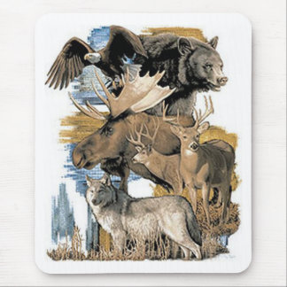 Rocky Mountain Animals Mouse Pad