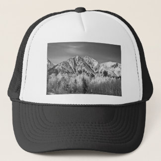 Rocky Mountain Autumn High In Black and White Trucker Hat
