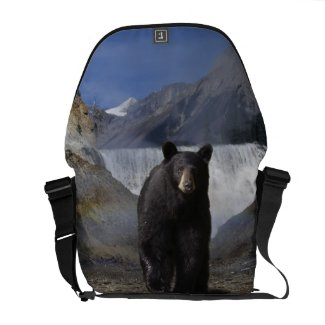 Rocky Mountain Black Bear Wildlife Messenger Bag rickshaw_messengerbag