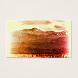 Rocky Mountain business card template photo art