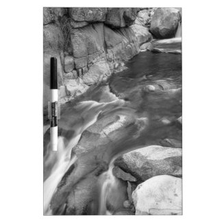 Rocky Mountain Canyon Streaming in Black and White Dry-Erase Whiteboards
