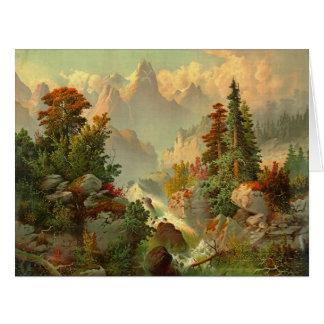 Rocky Mountain Cascade 1879 Card
