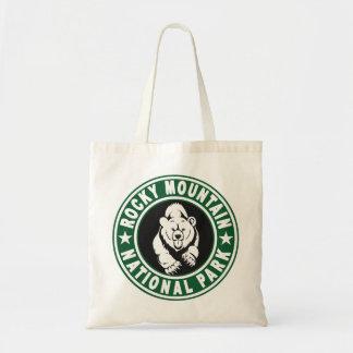 Rocky Mountain Circle Green Tote Bag