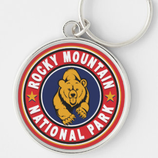 Rocky Mountain Circle Red Key Chain