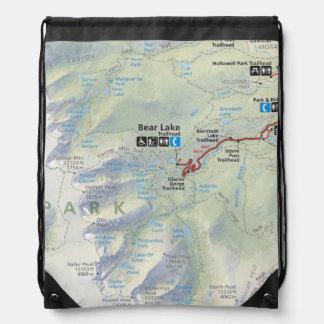 Rocky Mountain (Colorado) map backpack