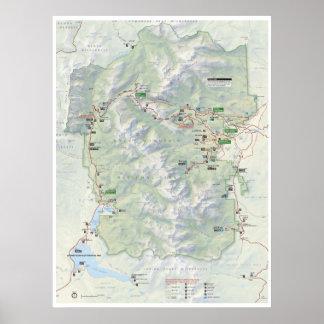Rocky Mountain (Colorado) map poster