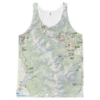 Rocky Mountain (Colorado) map unisex shirt