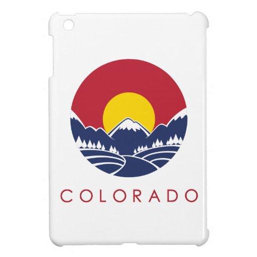 Rocky Mountain Colorado Sunset Logo iPad Mini Cover