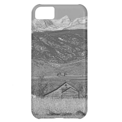 Rocky Mountain Country View Black And White Case For iPhone 5C