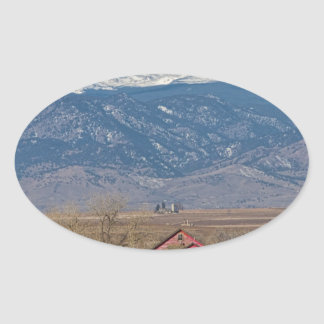 Rocky Mountain Country View Oval Sticker