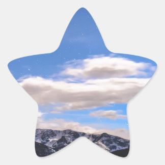 Rocky Mountain Evening View Star Sticker