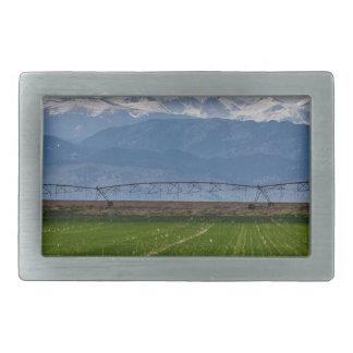 Rocky Mountain Farming View Rectangular Belt Buckle