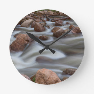 Rocky Mountain Flow Round Clock