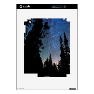 Rocky Mountain Forest Night Skins For iPad 2