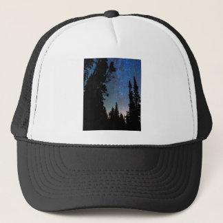 Rocky Mountain Forest Night Trucker Hat