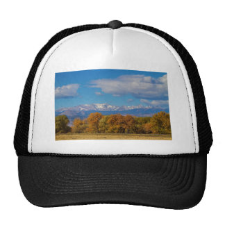 Rocky Mountain Front Range Colorful View Trucker Hat