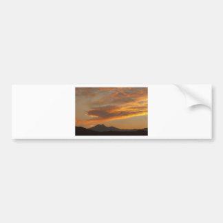 Rocky Mountain Front Range Sunset Car Bumper Sticker