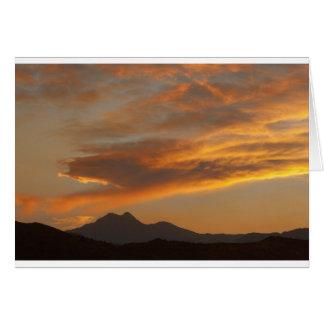 Rocky Mountain Front Range Sunset Card