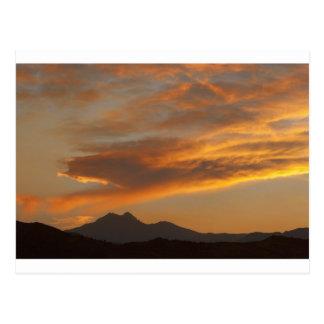 Rocky Mountain Front Range Sunset Postcard