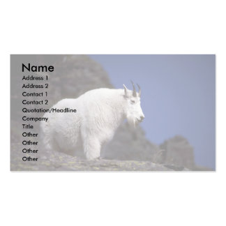 Rocky mountain goat (Large male) Double-Sided Standard Business Cards (Pack Of 100)