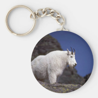Rocky mountain goat (Large male) Basic Round Button Keychain