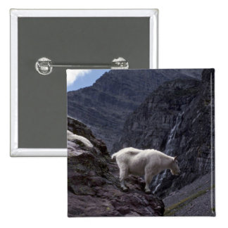 Rocky mountain goat (Pair on mountainside) 2 Inch Square Button