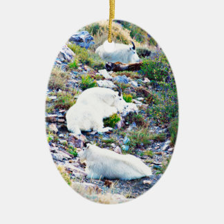 Rocky Mountain goats Ceramic Ornament
