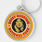 Rocky Mountain Gold Circle Keychain