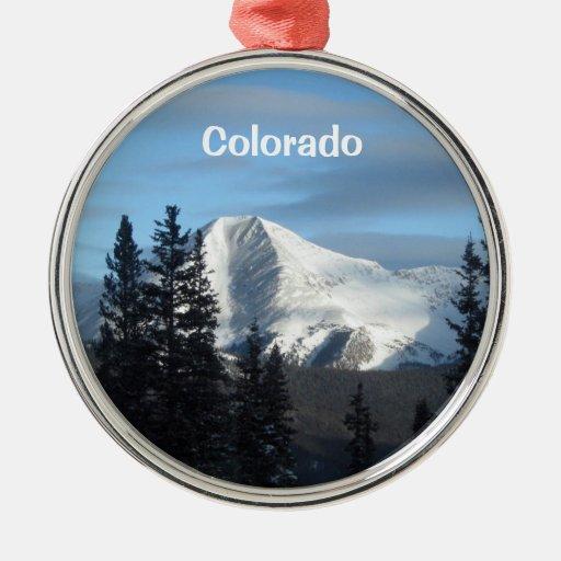 Rocky mountain high colorado round metal christmas