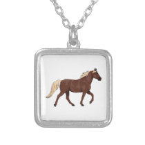 Rocky Mountain Horse Chocolate Silver Plated Necklace