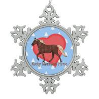 Rocky Mountain Horse Heart White Christmas Trees Ornament