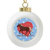 Rocky Mountain Horse Heart White Christmas Trees Ornaments
