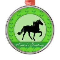 Rocky Mountain Horse Holly Season's Greetings Christmas Ornament