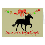 Rocky Mountain Horse Silhouette Christmas Cards