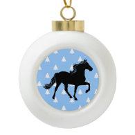 Rocky Mountain Horse White Christmas Trees Ornaments