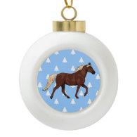 Rocky Mountain Horse White Christmas Trees Ornament