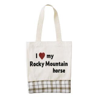 Rocky Mountain horse Zazzle HEART Tote Bag