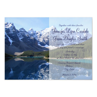 Rocky Mountain Lake Country Wedding Invitations