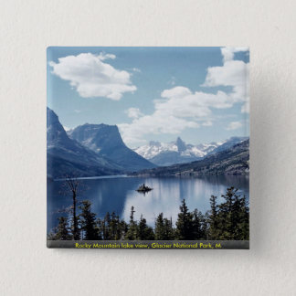 Rocky Mountain lake view, Glacier National Park, M Button