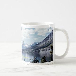 Rocky Mountain lake view, Glacier National Park, M Coffee Mug
