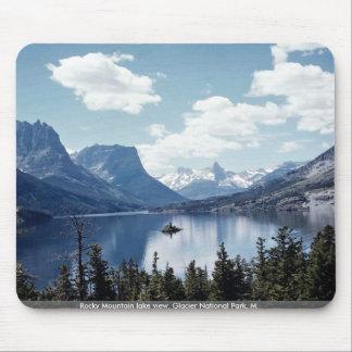 Rocky Mountain lake view, Glacier National Park, M Mouse Pad