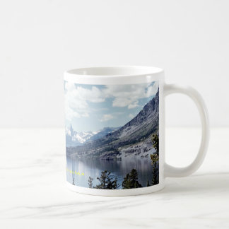 Rocky Mountain lake view, Glacier National Park, M Classic White Coffee Mug