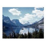 Rocky Mountain lake view, Glacier National Park, M Postcards