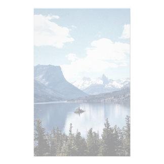Rocky Mountain lake view, Glacier National Park, M Stationery