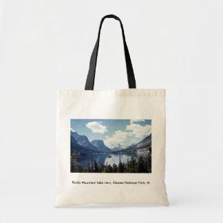Rocky Mountain lake view, Glacier National Park, M Tote Bag