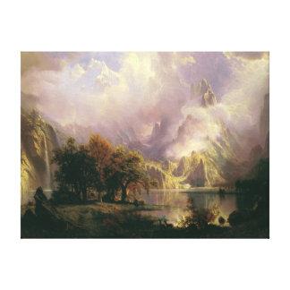 Rocky Mountain Landscape by Albert Bierstadt, 1870 Canvas Print