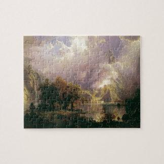 Rocky Mountain Landscape by Albert Bierstadt, 1870 Jigsaw Puzzle