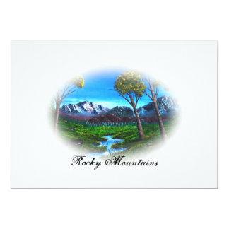 Rocky Mountain Landscape Card