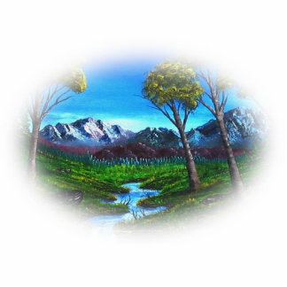 Rocky Mountain Landscape Statuette